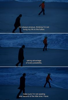 ― Eternal Sunshine of the Spotless Mind Clementine: I'm always anxious, thinking I'm not living my life to the fullest, taking advantage of every possibility, make sure I'm not wasting one second of the little time I have. Best Movie Quotes, Tv Show Quotes, Film Quotes, Romantic Movie Quotes, Clementine Eternal Sunshine, Eternal Sunshine Of The, Meet Me In Montauk, All The Bright Places, Movie Lines