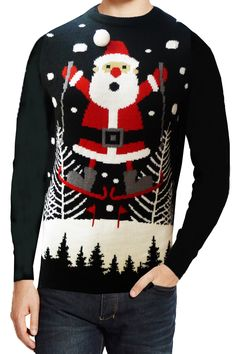 Pull de Noël à LED   Lumineux · Seasons Greeting Adults Flashing LED Light  Up Festive Knitted Christmas Jumper Flashing LED  8581830dcf78