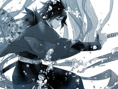 Demon Slayer x Kimetsu no Yaiba Anime Demon, Anime Manga, Anime Guys, Anime Art, Demon Slayer, Slayer Anime, Dragon Tales, Samurai, Gekkan Shoujo Nozaki Kun