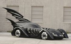 Now that's my type of car! The Batmobile! (Batman Forever theme song in the backround, me driving it! New Sports Cars, Sport Cars, Batman Auto, Batman 1966, 1995 Movies, Car Racer, Exotic Cars, Film, Cool Cars