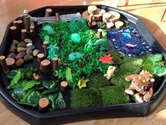 The Gruffalo storyland #tufftray #childminding