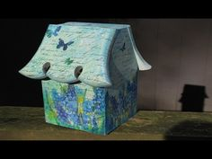 DIY Weatherproof Birdhouse Paint & Decoupage - YouTube