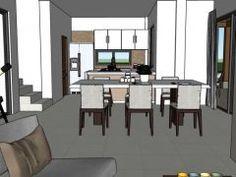 Diseño casa campestre las margaritas Dream House Plans, Conference Room, Dining Table, House Design, Furniture, Home Decor, Pdf, Homes, Templates