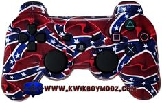 Confederate Flag Custom Modded Dualshock 3 PS3 Controller