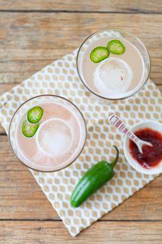 Spicy Strawberry Margaritas