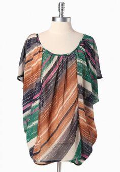 open wind striped curvy plus top    $34.99