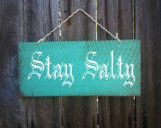 stay salty sign, beach decor, pirate decor, beach sign, beach house decor, hibiscus graphic, hawaii theme, hawaii, island decor