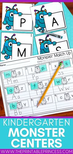 Welcome back students to the new school year with these adorable Monster themed math and literacy centers. Teach and reinforce centers with no prep letter recognition, letter sounds, counting practice, number writing, subitizing and more! Subitizing Activities, Kindergarten Math Activities, Word Work Activities, Counting Activities, Alphabet Activities, Kindergarten Classroom, Classroom Ideas, Teaching Numbers, Teaching The Alphabet