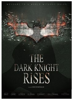BATMAN - THE DARK NIGHT RISES - poster created by Manon Ghiurco