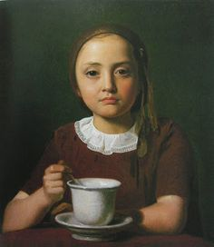 Constantin Hansen, Portrait of a Little Girl, 1850. Danish