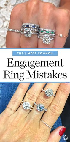 The 6 most common engagement ring mistakes. #engagementrings #engagement #weddingrings #jewelry #rings