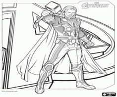 9 Best Thor Malvorlagen Images Avengers Coloring Pages Avengers
