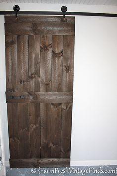 put barn door between game room and craft room