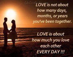 Tình yêu không phải bao nhiêu ngày, tháng hay năm các bạn ở bên nhau.