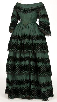 Dress, 1850's, Spain.