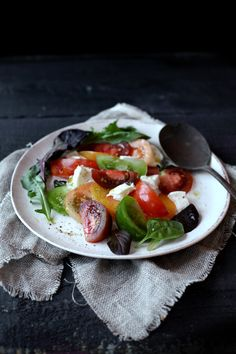 Tomato salad. Just beautiful