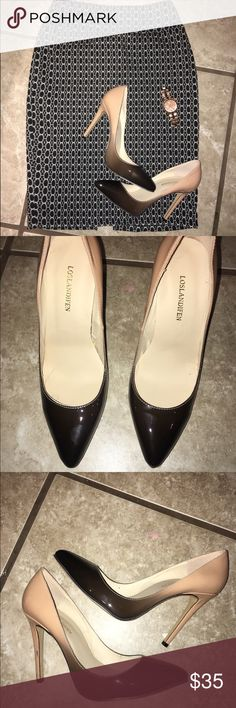 EUC Ombré heels nude/black 8.5 Super cute and stylish ombré nude and black patent heels size 8.5! Little scuff on the heel cannot tell when worn. Never worn outside only to try on. Shoes Heels
