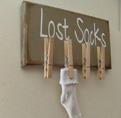 Coole Idee für verloren gegangene Socken.