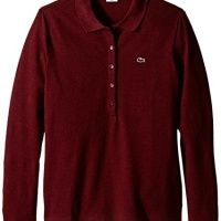 #Lacoste Womens Long Sleeve Stretch Pique Slim Fit Polo Shirt