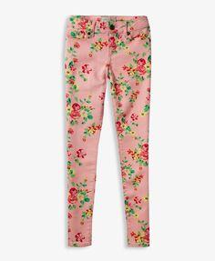 Floral Skinny Jeans | FOREVER21 girls - 2041862131