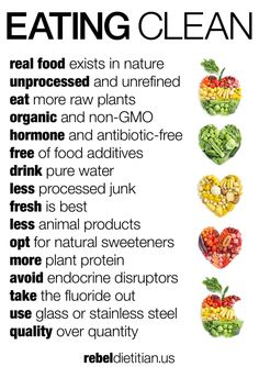 Eat Clean Manifesto | rebelDIETITIAN.US