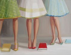 Library Ladies by Janet Hill: I want a group of ladies to dress up and go to the library with.