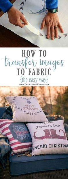 Image Transfer to Fabric is part of Sewing crafts - Image transfer to fabric is a breeze with heat transfer paper! Learn how to use iron on transfer paper for quick & easy image transfers to fabric Foto Transfer, Transfer Paper, Iron On Transfer, Transfer Printing, Freezer Paper Transfers, Heat Transfer Vinyl, Fabric Crafts, Sewing Crafts, Embroidery Designs