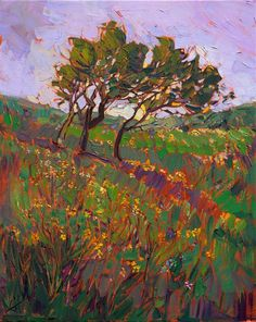 Modern landscape artist Erin Hanson paints Texas Hill Country wildflowers.