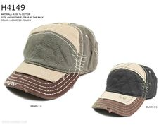 Distressed Baseball Cap With Adjustable Strap
