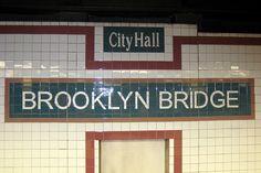 Brooklyn Bridge – City Hall / Chambers Street (New York City Subway) - Bing Images New York Subway, Nyc Subway, Go Transit, Home Nyc, Lexington Avenue, Underground Cities, Places In New York, S Bahn, Brooklyn Bridge
