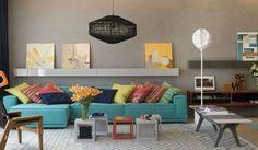 Como usar azul tiffany na decoração - ideias no blog. Projeto; Paula Neder {azul tiffany na decoração}