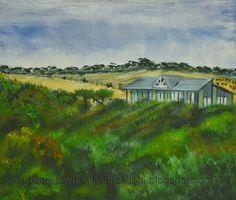 """Artworks by Denise Anzellotti: """"On the hillside"""" Phillip Island, Sunderland Bay"""