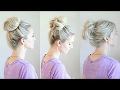 6 Easy Messy Buns - YouTube video tutorial