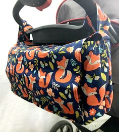 Stroller Caddy - Stroller Bag - Wheelchair Bag - Wheelchair Caddy - Fox Diaper Bag - Convertible Diaper Bag - Pram Caddy - Fox Messenger Bag by SewYouEtsy on Etsy Stroller Bag, Umbrella Stroller, Convertible Diaper Bag, Fox Nursery, Surprise Baby, Lee, Holding Baby, Baby Bottles, Messenger Bag