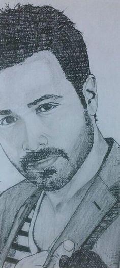 Killer drawing of my love Emraan Hashmi aka Emmi 💋😁 Handsome Celebrities, Handsome Actors, Arbaaz Khan, Actor Photo, Pencil Portrait, Bollywood Stars, Mehndi Designs, Cute Guys, First Love