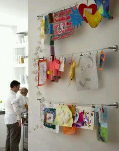 To display kids art