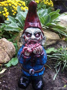 Enano o gnomos de jardin zombie