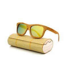 d4e56d46391 New fashion Products Men Women Glass Bamboo Sunglasses au Retro Vintage Wood  Lens Wooden Frame Handmade