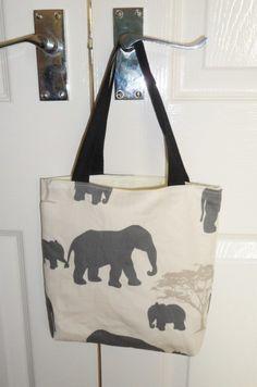 Elephant Family Fabric Tote Bag - Free UK PP £10.00
