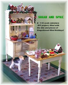 DYI DOLLHOUSE MINIATURES: SUGAR N' SPICE part one