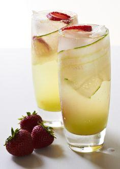 Erdbeer-Gurken-Mocktail Rezept Sodawasser