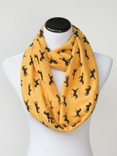 For my little Chloe, she would love this, maybe in pink or purple. Etsy listing at https://www.etsy.com/listing/216738011/black-horse-infinity-scarf-marigold