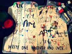 grafika art, book, and wreck this journal