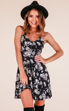 ffdcb7b8bfd Showpo The Right Moment dress in black floral - 10 (M) Casual Dresses Casual