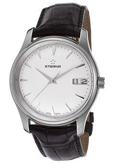 Off Eterna Men's Vaughn Automatic Black Genuine Alligator White Dial Watch Luxury Watches, Rolex Watches, Cool Watches, Watches For Men, Citizen Eco, Automatic Watch, Omega Watch, Accessories, Black
