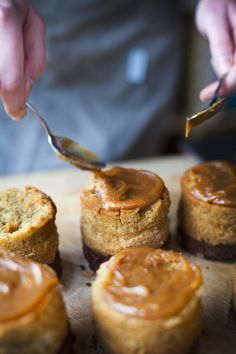 Smoked Caramel, Vanilla and Pear Cakes