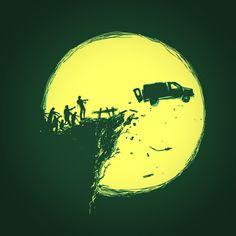 Zombie Invasion Art Print