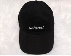 Princess Black Baseball Hat - Freshtops Marketplace