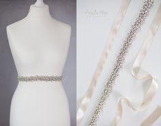 Brautgürtel - -Diamonds- Brautgürtel Strass Satingürtel Gürtel - ein Designerstück von Princess_Mimi bei DaWanda