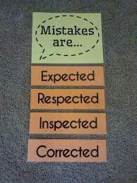 Math = Love: Growth Mindset Mistakes Poster Mistakes are expected. Future Classroom, School Classroom, Year 3 Classroom Ideas, Classroom Pictures, School Teacher, Classroom Organization, Classroom Management, Organizing, Teaching Math